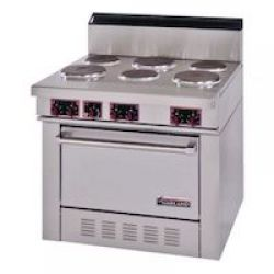 Commercial Electric Ranges with Standard Oven