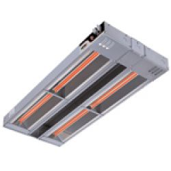 Double Unlighted Infrared Food Warmer Heat Lamps