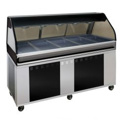 Floor Model Full Size Hot Food Display Cases