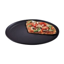 Hard Coat Anodized Aluminum Wide Rim Pizza Pans