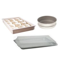 Pizza Dough and Baking Containers