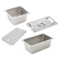 Stainless Steel Food Pans and Food Pan Accessories