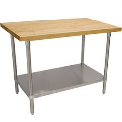 Wood Top Work Tables with Undershelf