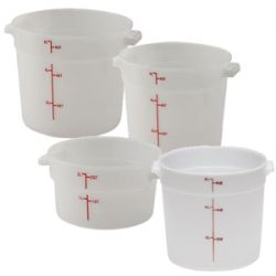 Round White Food Storage Containers and Lids