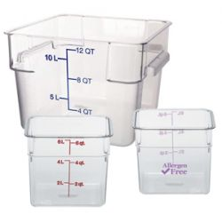 Square Clear Food Storage Containers and Lids