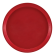 Cambro 1300521 Cambro Red 13 Inch Round Fiberglass Camtray Serving Tray