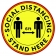 "Winco PFD-12Y Round 12"" Anti-Slip Social Distancing Floor Decal"