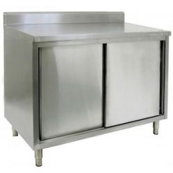 Enclosed Base Commercial Work Tables   With Doors