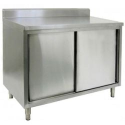 Commercial work tables and stations restaurant supply enclosed base commercial work tables with doors workwithnaturefo