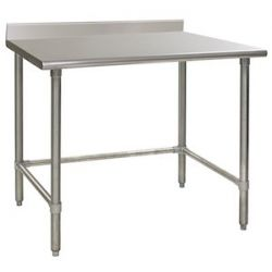 Open Base Commercial Work Tables - 16 Gauge Standard Top