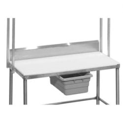 Stainless Steel Backsplashes for Poly Top Work Tables