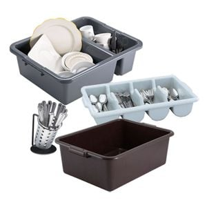 Bus Tubs Bus Boxes and Flatware Bins  sc 1 st  Restaurant Supply & Dinnerware Storage and Transport | Restaurant Supply