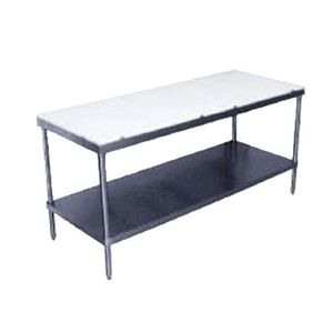 Commercial Work Tables And Stations Restaurant Supply - 8 ft stainless steel work table
